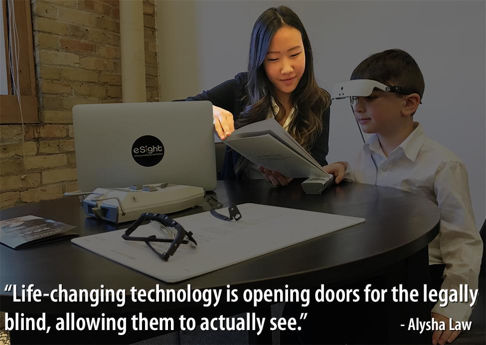 Photo of Alysha Law with quote