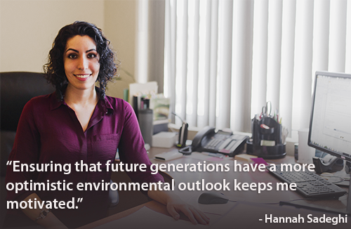 Photo with quote of Hanna Sadeghi