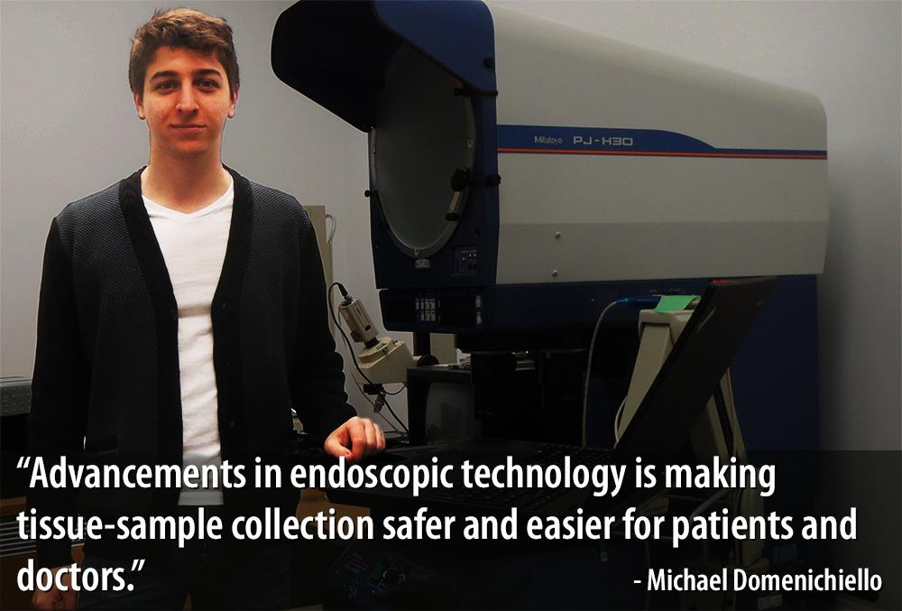 Photo of Michael Domenichiello with quote