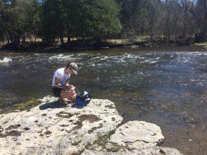 Juno Garrah reading water test results